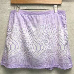 IZOD GOLF Skort skirt white and lavender print